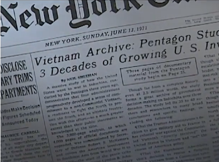 New York Times Article Pentagon Papers 1971