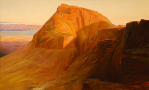 Masada_(or_Sebbeh)_on_the_Dead_Sea,_Edward_Lear,_1858.jpg