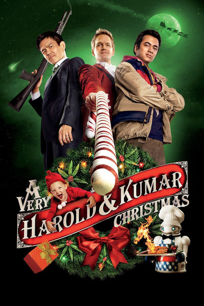 A Very Harold &amp; Kumar 3D Christmas Movie Poster