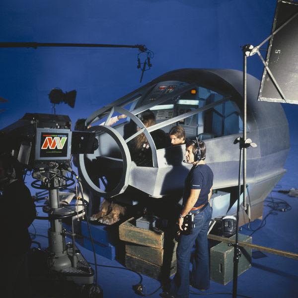 Han Solo in Millennium Falcon