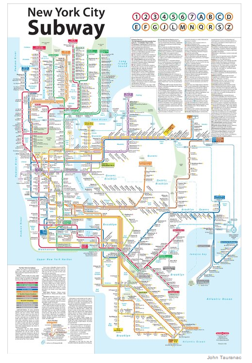 Subway map redesign story
