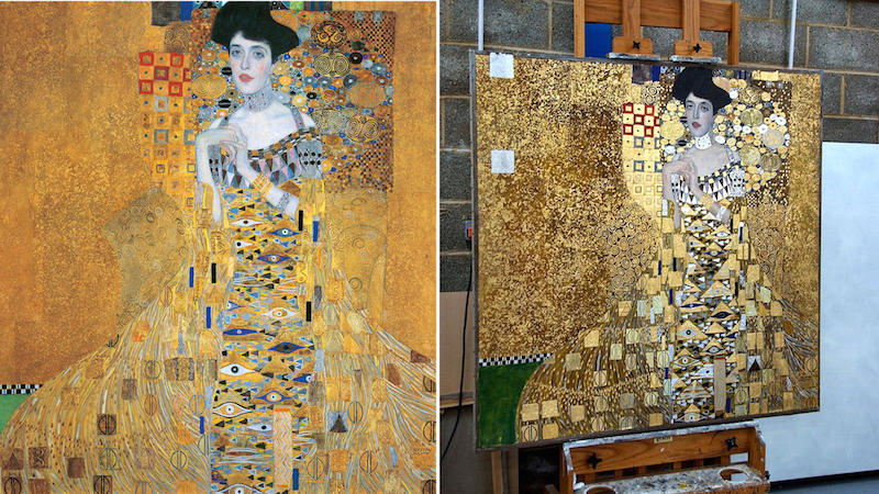 Does Klimpt S Painting Have Real Gold In It