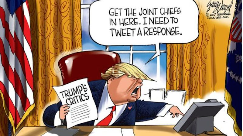 Image result for Cartoons trump bully