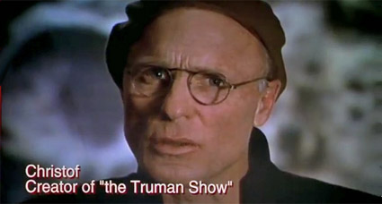 exaggeration in the truman show