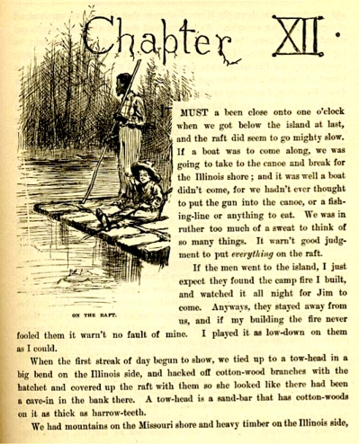 mark twain essay nigger In the adventures of huckleberry finn by mark twain, twain does not use only positive role models on huck, but shows also how characters influence huck negatively one of the characters that influence huck in a negative way is pap.