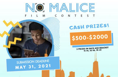 No Malice Film Contest Extends its Deadline to May 31st