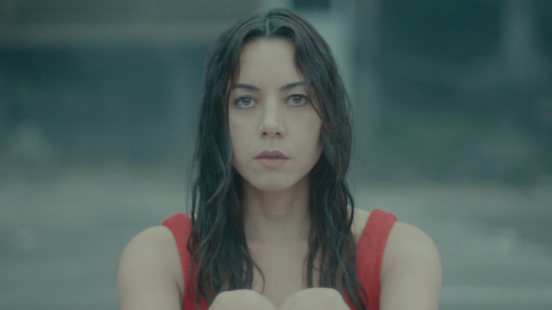 Aubrey Plaza as Allison staring out in to the distance.