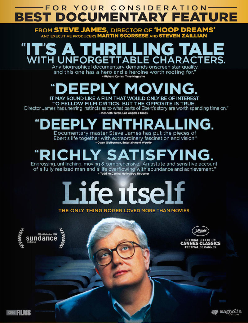 """Life Itself"""" Nominated for Best Documentary at the Emmy Awards ..."""