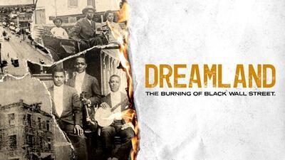 梦境:黑色华尔街电影海报的燃烧