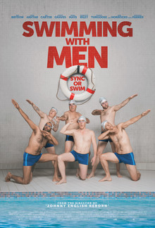 Widget swimming men poster 1